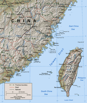 The Taiwan Strait. Click to enlarge. Wuciou is...