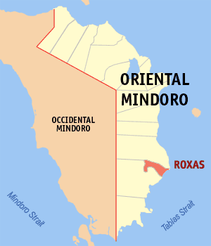 Map of Oriental Mindoro showing the location o...