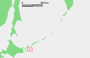 Location of Shikotan Island (??????? / ???), K...