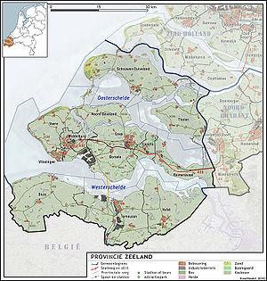Map of Zeeland