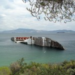 Mediterranean Sky: 1 of many wrecks in the Eleusis Bay
