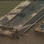 Barge Fire off Galveston
