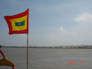 View of Barranquilla from the Magdalena River.