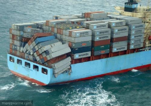 maersk sembawang damage cargo shipwreck log. Black Bedroom Furniture Sets. Home Design Ideas