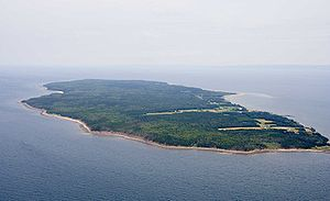 Aerial view of Pictou Island