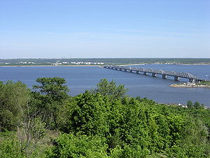 The Volga, the longest river in Europe, in Uly...