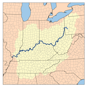 Drainage basin of the Ohio River, part of the ...