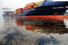 Container ship sinking in Hooghly
