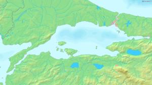 Map of the Sea of Marmara