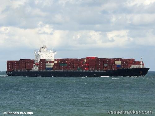 Cargo Ship Zim Shekou IMO 9322322 by HannesvanRijn