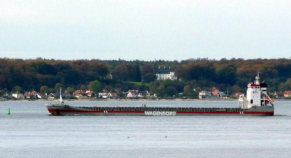 Dongenborg IMO 9163697, dwt 8867, built 1999, flag Netherlands, owner Wagenborg Shipping.