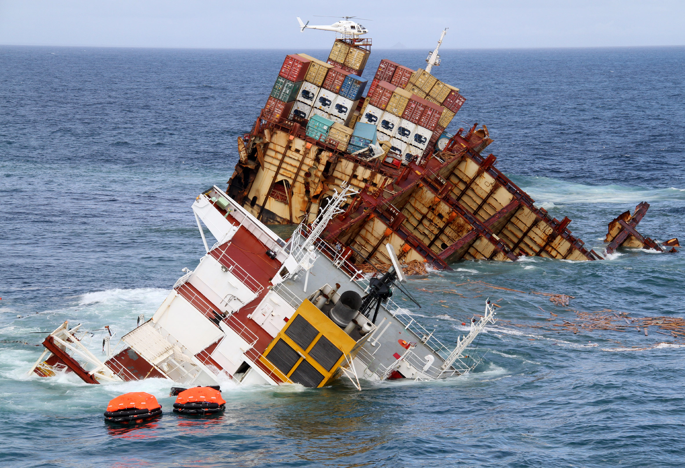 More Photos Of The Rena Shipwreck Log