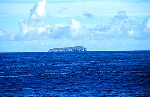 Monito Island as seen from offshore