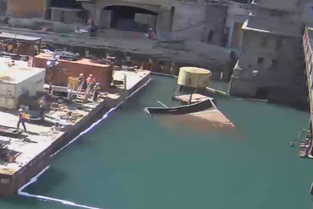 Barge Chicago River