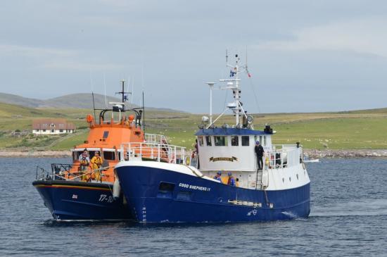 Lerwick Lifeboat RNLI Good Shepherd IV Disabled Shetland Islands