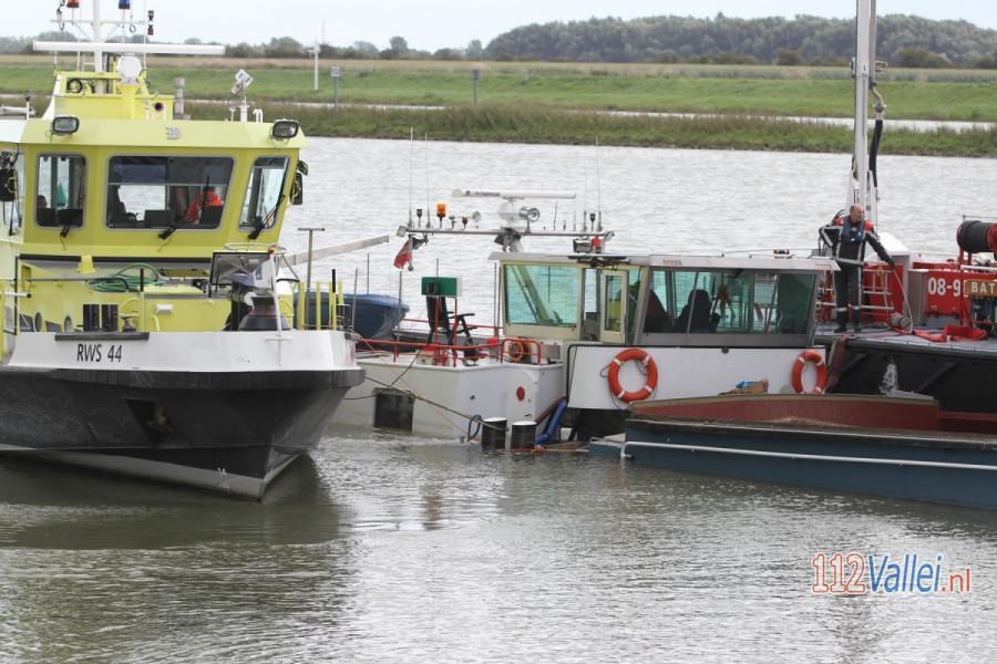 Sand Barge sunk Noorderlicht Rhine