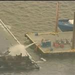 Barge Fire off Galveston